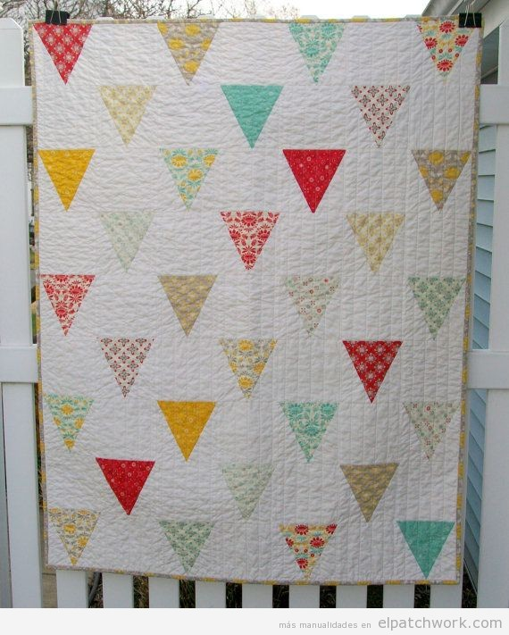 Ideas para hacer colchas para beb s y ni os en patchwork - Como hacer colchas de patchwork ...
