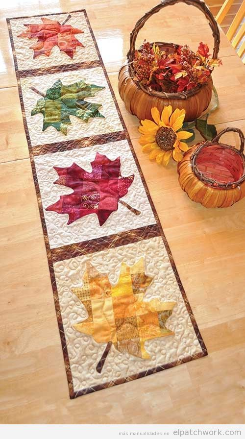 Caminos de mesa de patchwork f ciles para oto o el for Camino mesa moderno