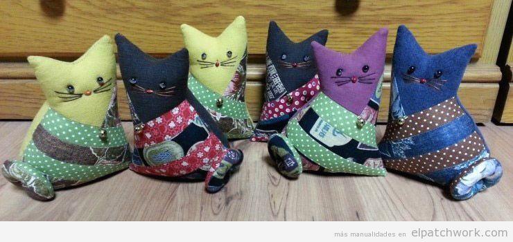 Tutorial gato peluche patchwork DIY