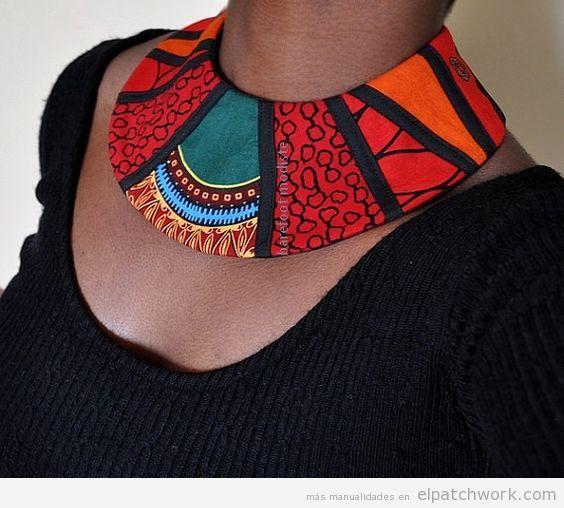 Collares babero estilo africano de patchwork 2