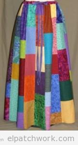 Faldas largas hechas de patchwork o quilting 2
