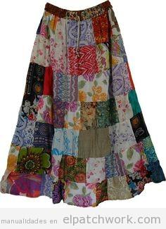 Faldas largas hechas de patchwork o quilting 1