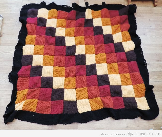 Mantas de patchwork hechas con ganchillo el patchwork for Disenos colchas patchwork