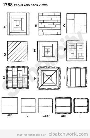 Patrones y moldes gratis patchwork • El Patchwork