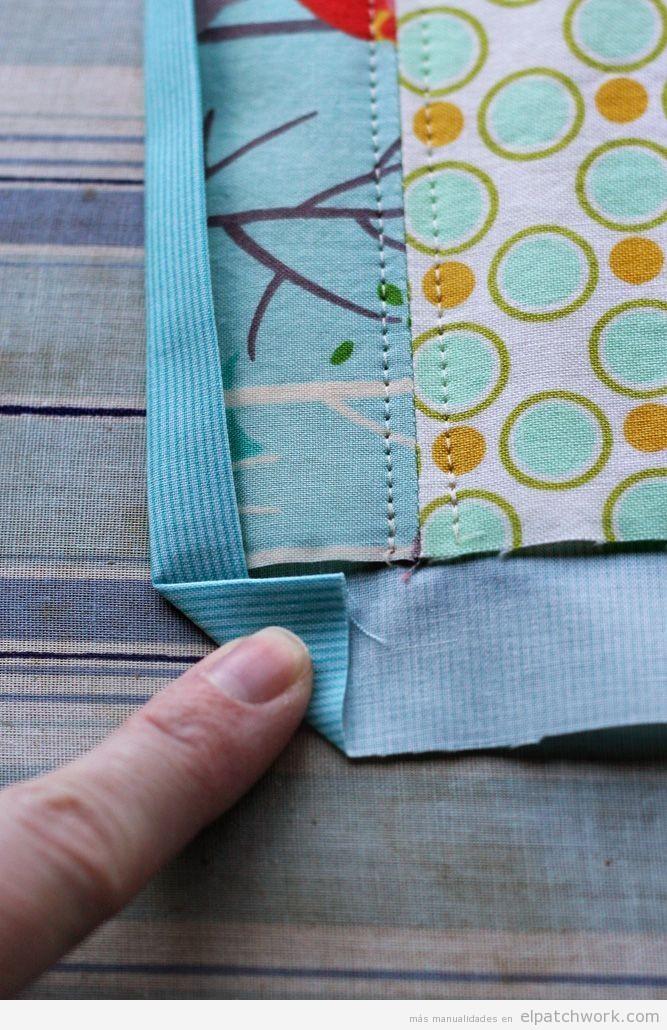 Truco para coser las esquinas de los bordes de telas de patchwork
