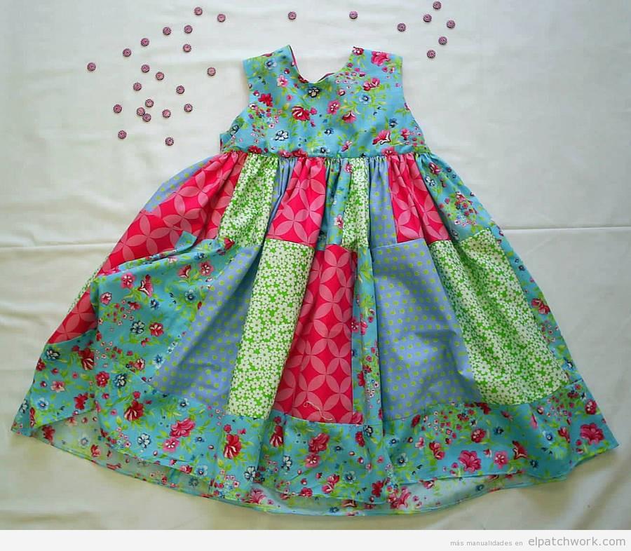 Vestidos de patchwork para niñas bebés