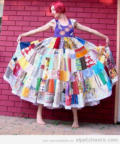 Vestidos de patchwork DIY original