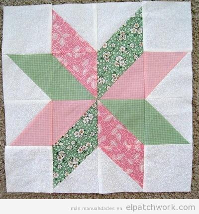 Flor estrella patchwork 2