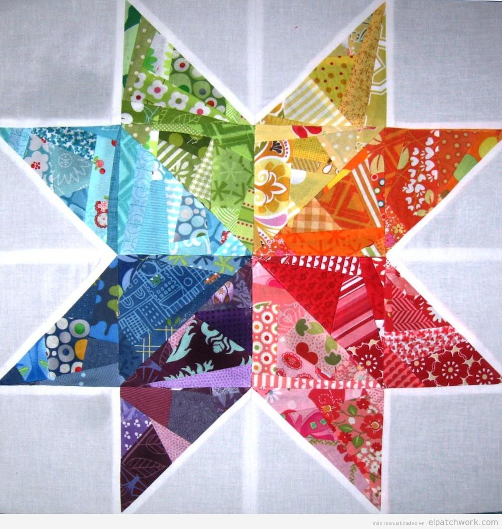 Flor estrella patchwork