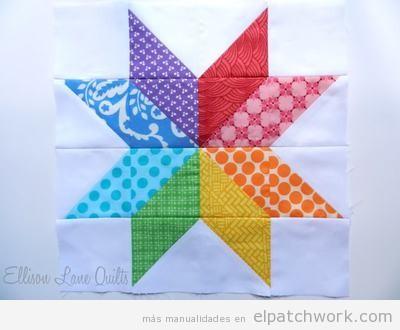Flor estrella patchwork 3