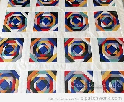 Patrón gratis patchwork espiral