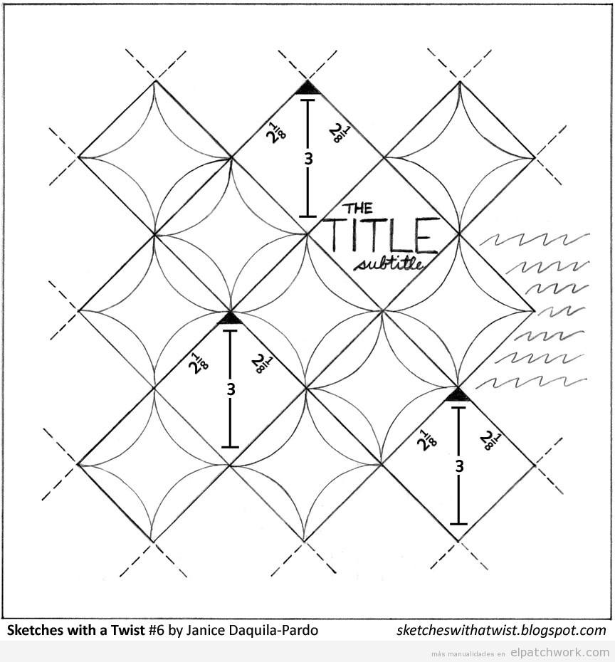 Molde patchwork ventana catedral descargar gratis