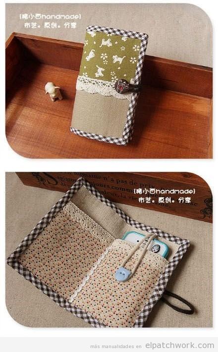 Fundas teléfono móvil hechas con telas de patchwork 2