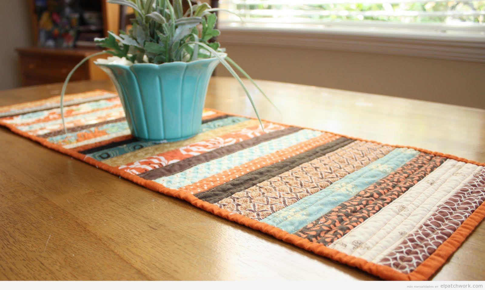 Caminos de mesa de patchwork f ciles para oto o el patchwork for Caminos para mesas