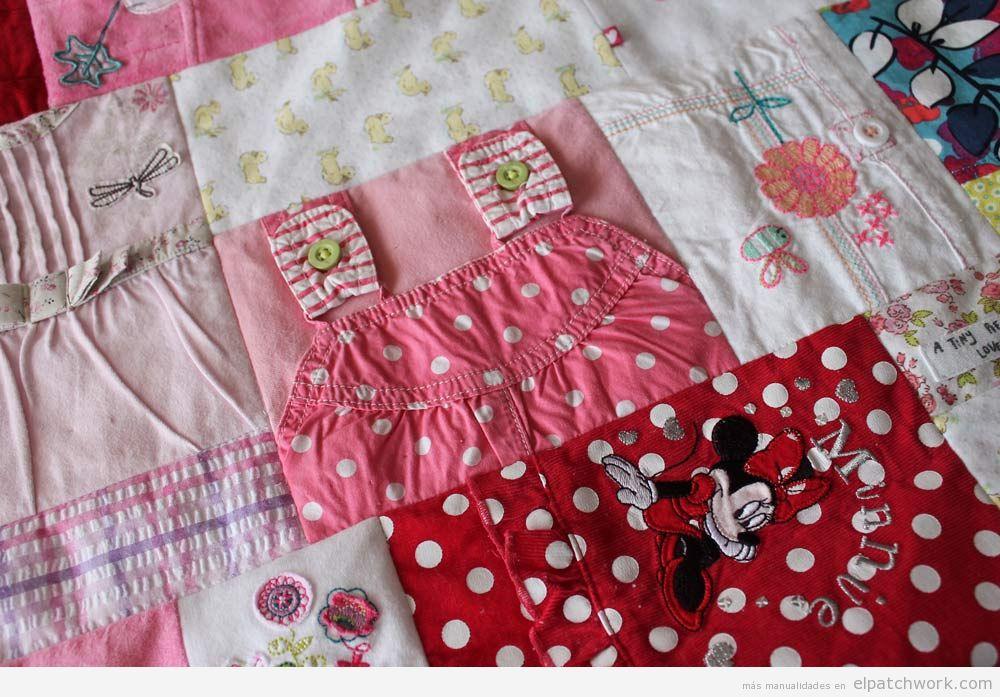Mantas de patchwork hechas con ropa de beb y ni o el - Como hacer mantas de patchwork ...