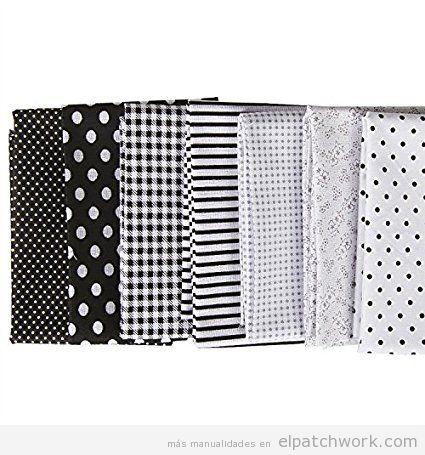 Comprar online telas patwchork en tonos grises, negros y blancos