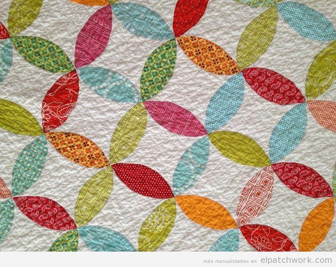 Colchas patchwork con el quilt orange feel o piel de naranja