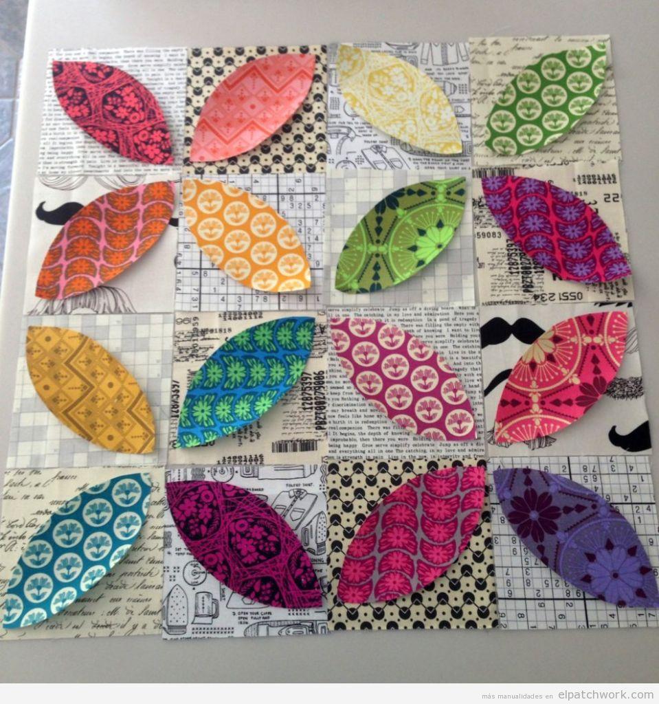 Colchas patchwork con el quilt orange feel o piel de naranja 3