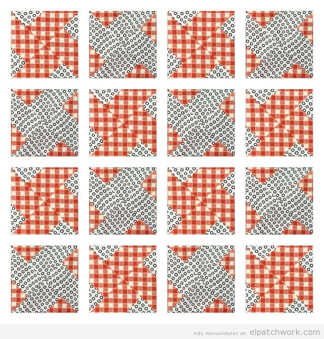 Resultado Quilt patchwork whirlwind repetido