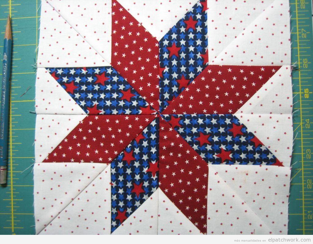 Tutorial quilt patchwork modelo estrella Lemoyne