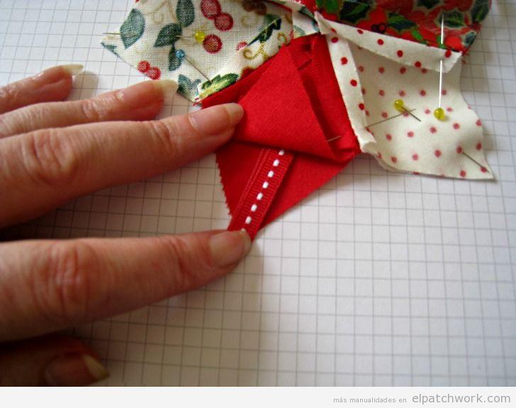 Tutorial adorno Navidad patchwork, estrella para árbol 2