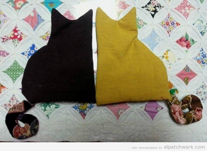 Tutorial gato peluche patchwork DIY 3