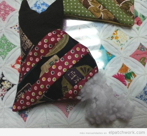 Tutorial gato peluche patchwork DIY 4