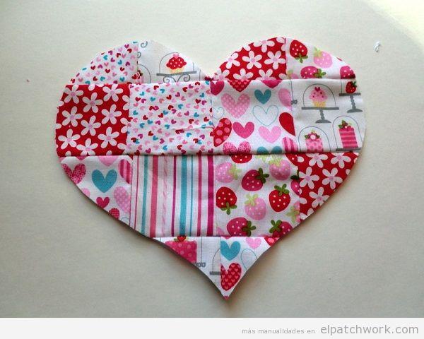 Corazón de patchwork para San Valentín