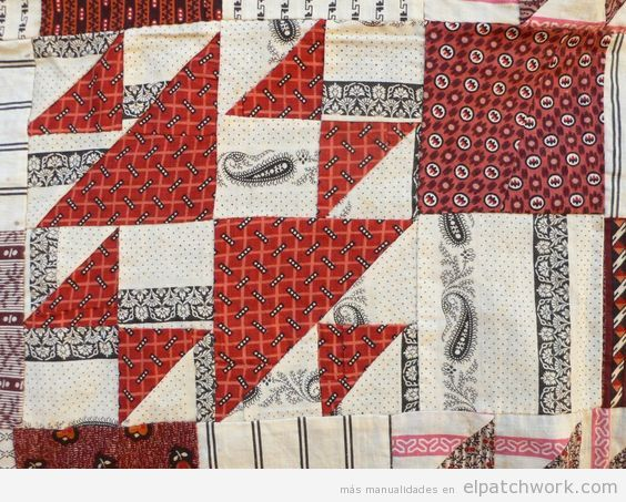 Colcha antigua modelo patchwork doble x