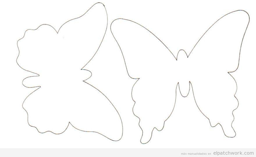 Plantilla mariposa aplique patchwork