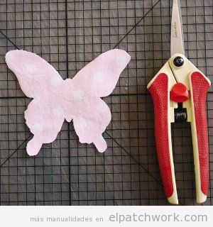 Tutorial colcha infantil apliques mariposas patchwork, paso 1