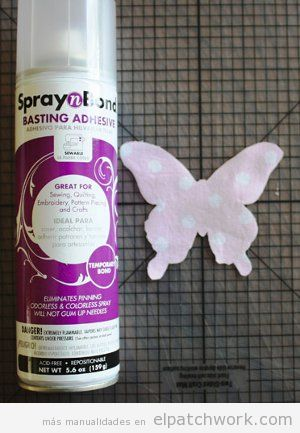 Tutorial colcha infantil apliques mariposas patchwork, paso 2