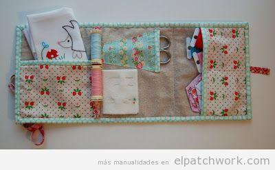 Tutorial funda libro patchwork o kit de viaje, paso 6