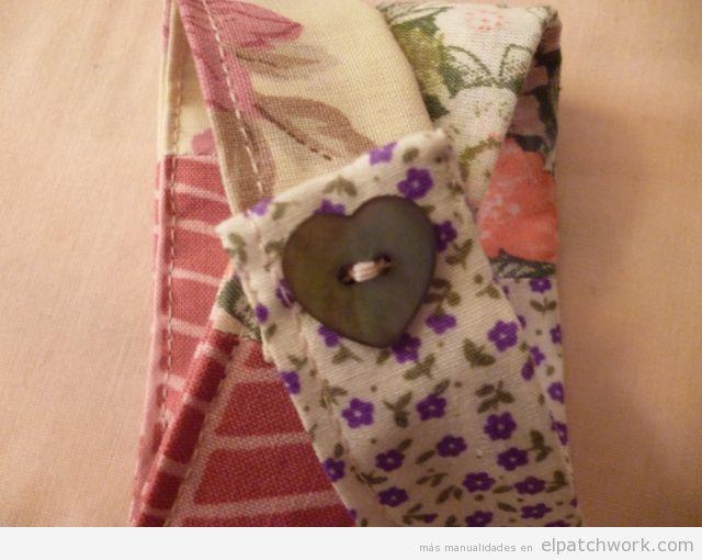 Aprender cómo se hace pulsera de patchwork, paso 10