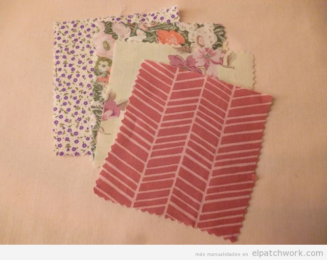 Aprender cómo se hace pulsera de patchwork, paso 1