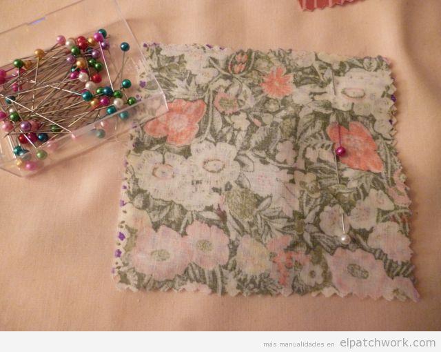 Aprender cómo se hace pulsera de patchwork, paso 2