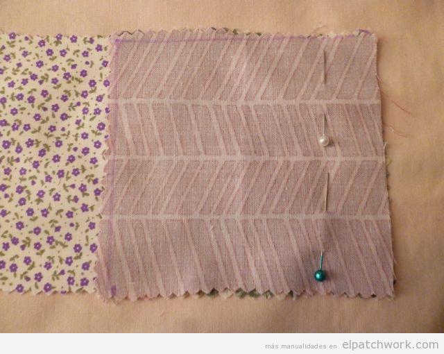 Aprender cómo se hace pulsera de patchwork, paso 3