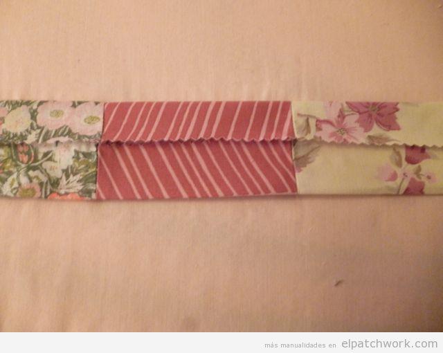 Aprender cómo se hace pulsera de patchwork, paso 6
