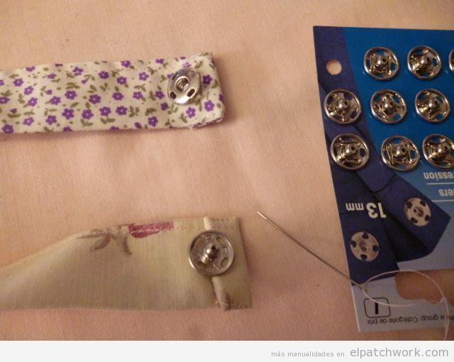Aprender cómo se hace pulsera de patchwork, paso 9