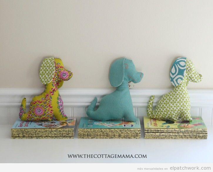 Manualidades patchwork Día de la Madre, peluche de perro