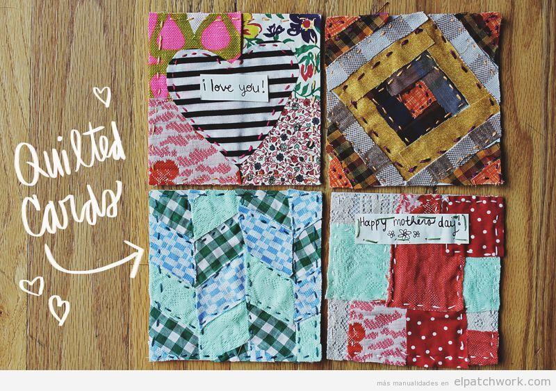 Tarjetas de parchwork para regalar en el Día de la Madre
