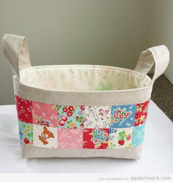 Cajas y cestos de patchwork 6