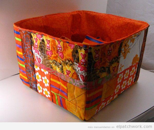 Cajas y cestos de patchwork