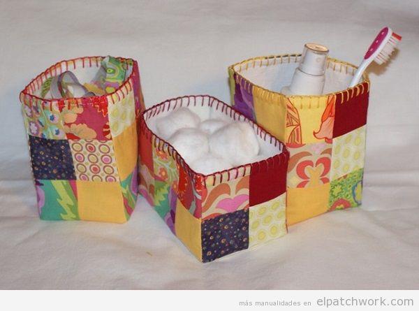 Cajas y cestos de patchwork 2
