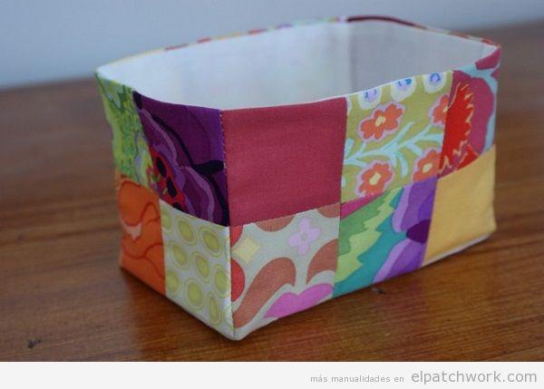 Cajas y cestos de patchwork 3
