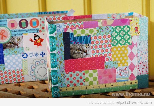 Cajas y cestos de patchwork 4