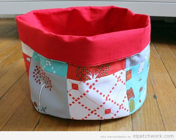 Cajas y cestos de patchwork 5