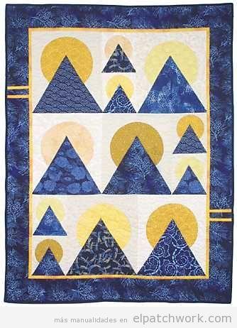 Colchas de patchwork con el quilt moon over the mountain 2