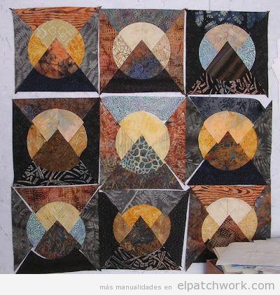 Colchas de patchwork con el quilt moon over the mountain 3