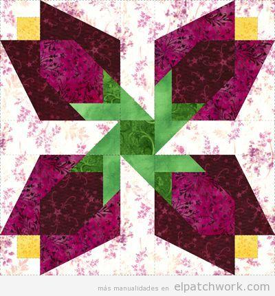 Patrones gratis para descargar de flores de patchwork 2